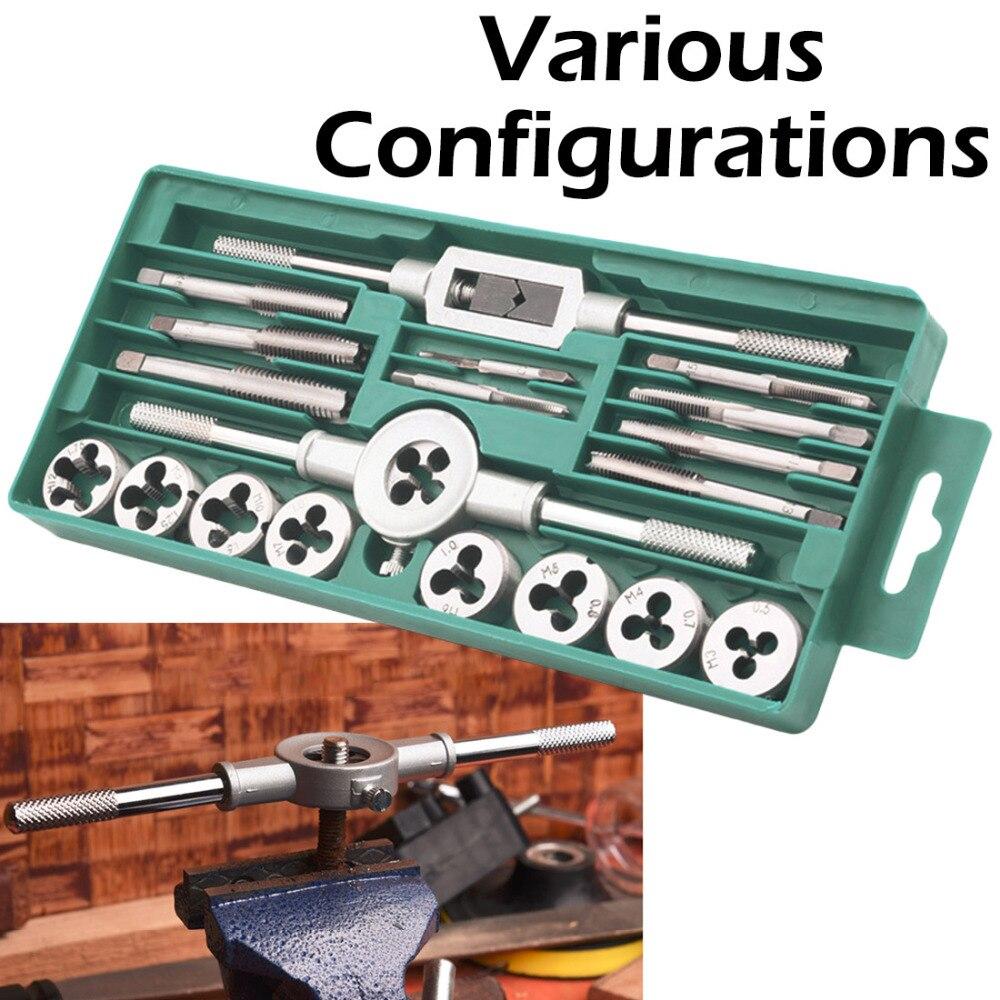 20 PCS Tap Wrench Metric Manual Screw Tap Screwdriver Bit Set M3-M12 Screw-thread Spanner Tap And Die Set Tool20 PCS Tap Wrench Metric Manual Screw Tap Screwdriver Bit Set M3-M12 Screw-thread Spanner Tap And Die Set Tool