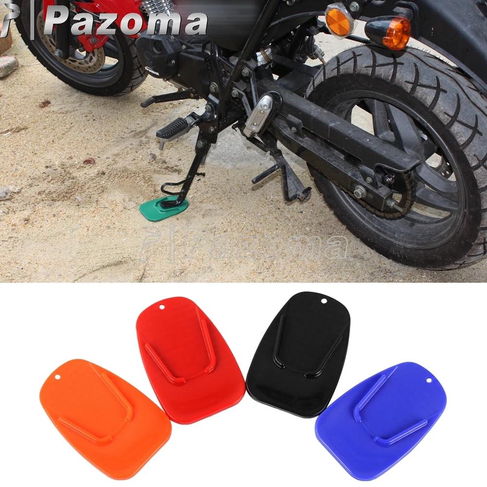 Motorcycle Kickstand Plate Bikers Kick Stand PAD Orange