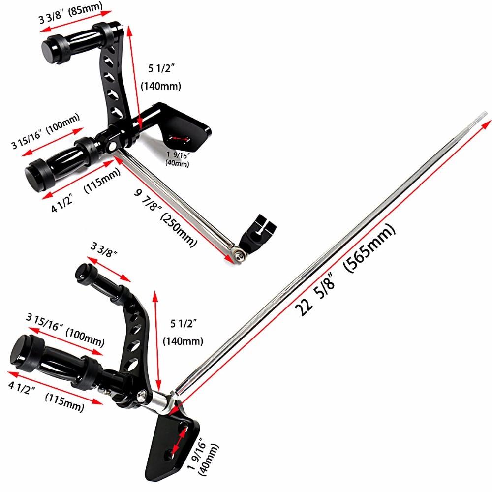 Gloss Black Billet Aluminum Forward Control Foot Pegs Fit Harley Dyna 2006-2017 Street Bob FXDB Models