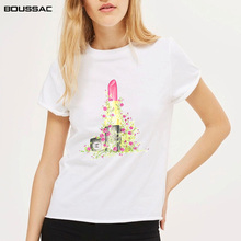 Plus Size Women Clothes Short Sleeve TShirt Lipstick Print Harajuku Cotton Top Tees Casual O Neck Female T-Shirt Camiseta mujer new fashion t shirts for women harajuku tops eye print short sleeve tees cotton female tshirt woman white tee top camiseta mujer