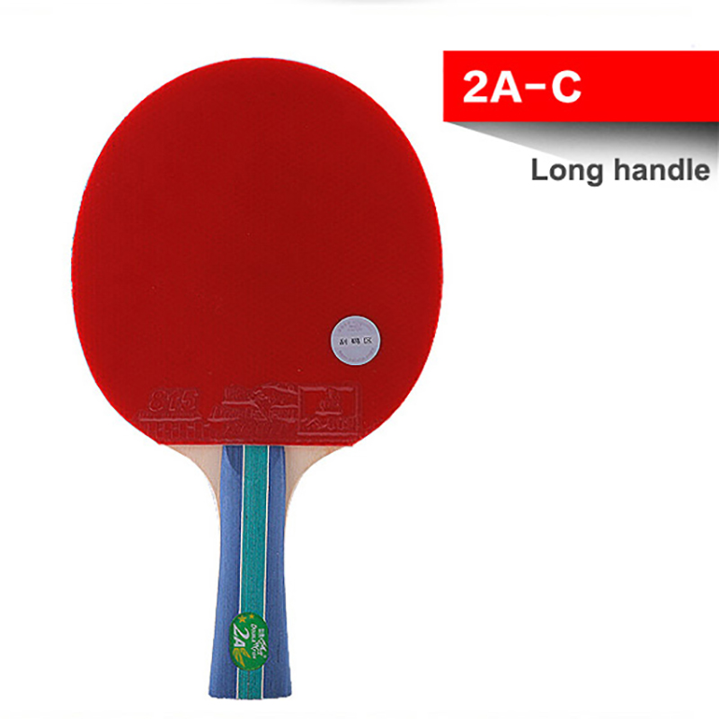 Double Fish 2 Star Pingpong Paddles Table Tennis Racket Racquet Bat Flared Long Handle For Amateur Entertain Players