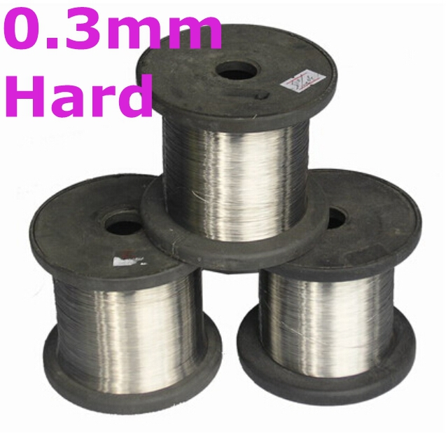 0.3mm hard condition Bright Surface 100meters SS304 Stainless Steel Wire Spools DIY Craft Hardwarwe 10mm 304 stainless bar stainless steel round rod smooth bright surface diy hardware