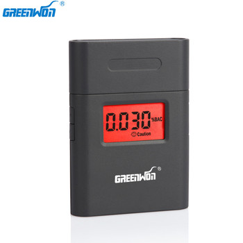 GREENWON portable 360 degree rotating mouthpiece red backlight Accurate Breath Alcohol Tester LED Light Alcohol Breathalyzer
