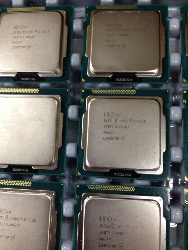 Intel i5 3570 Processor Quad Core 3 4Ghz L3 6M 77W Socket LGA 1155 Desktop CPU Intel i5 3570 Processor Quad Core 3.4Ghz L3=6M 77W Socket LGA 1155 Desktop CPU
