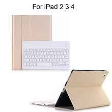 Bluetooth Wireless Keyboard Case for Apple iPad 2 3 4 Leather Smart Cover Auto Sleep/Wake Ultra-Slim Lightweight ABS Detachable