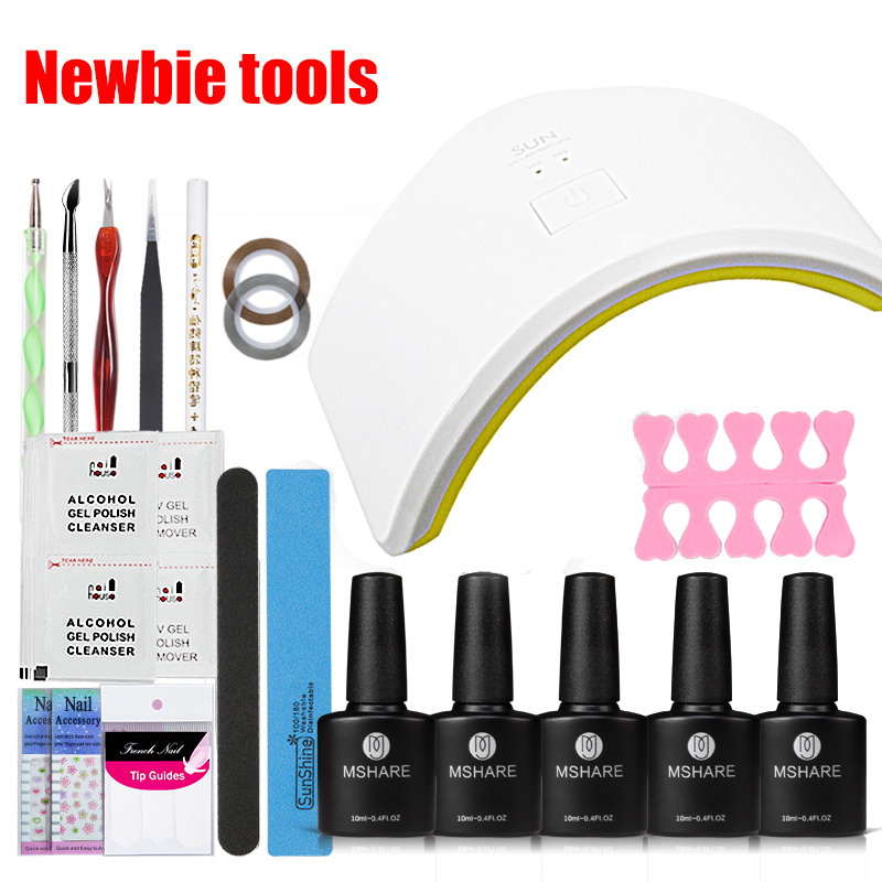 MSHARE 39Pcs UV LED 18W Manicure Tool Nail Gel Lamp UV LED Lamp Nail Dryer Polish Machine for Curing Nail Gel Art Tool Set Kits sunuv sun4 48w professional uv led nail dryer lamp gel polish nail dryer manicure tool for curing nail gel polish nail drill set