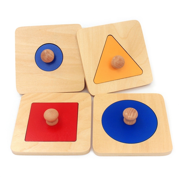 Set of 4 Wooden Shaped Boards