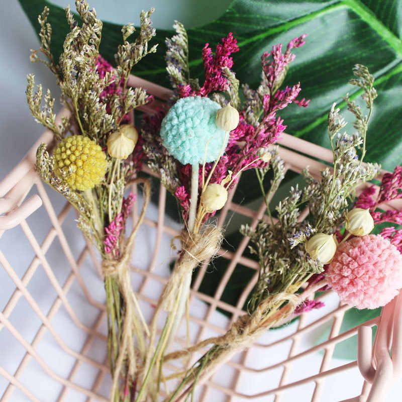 1 piezas de doble color de hierba flores artificiales organizar mesa boda flores decoración fiesta accesorio caja de regalo artesanía