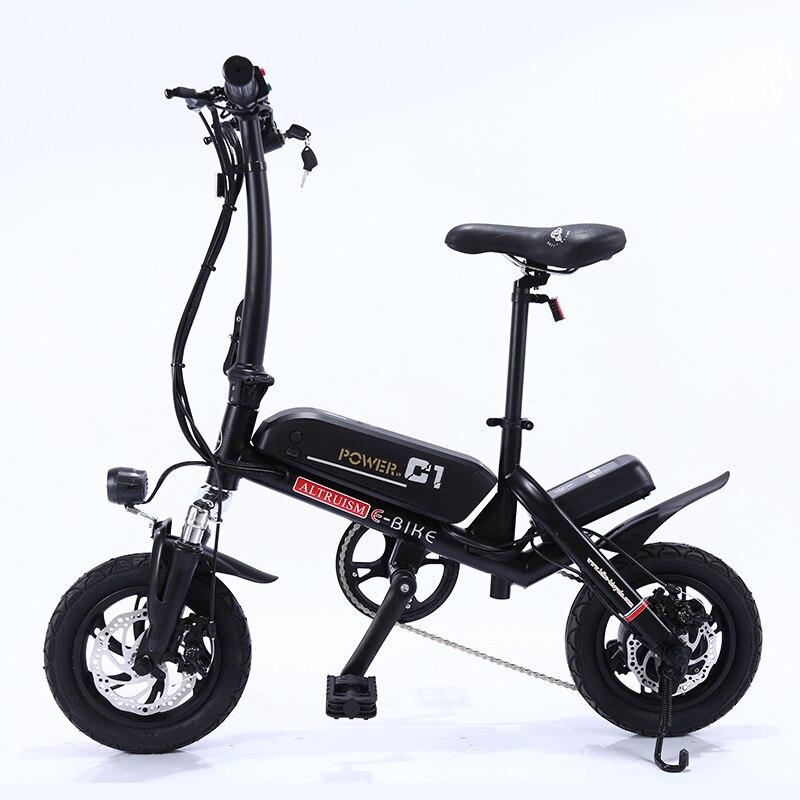 0602b837d53 ALTRUISM C1 Smart Folding Electric Bike12inch Mini Electric Bicycle Ebike  36V Lithium Battery Super Mini E Bike 30km Maximum Bat-in Electric Bicycle  from ...