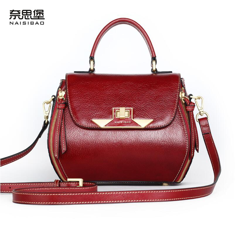 Cow leather handbag free delivery New leather women bag Retro shoulder bag Chinese wind printing handbag Small square bag cow leather handbag free delivery new leather women bag retro shoulder messenger bag leisure bucket bag
