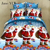 Santa Claus Christmas Bedding Sets Queen Cotton Elegant Snowflake Christmas Duvet Cover Cartoon Kids Christmas Bedding
