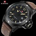 2017 novo naviforce marca de luxo moda masculina sports relógios pu leather strap quartz relógio de pulso à prova d' água relogio masculino