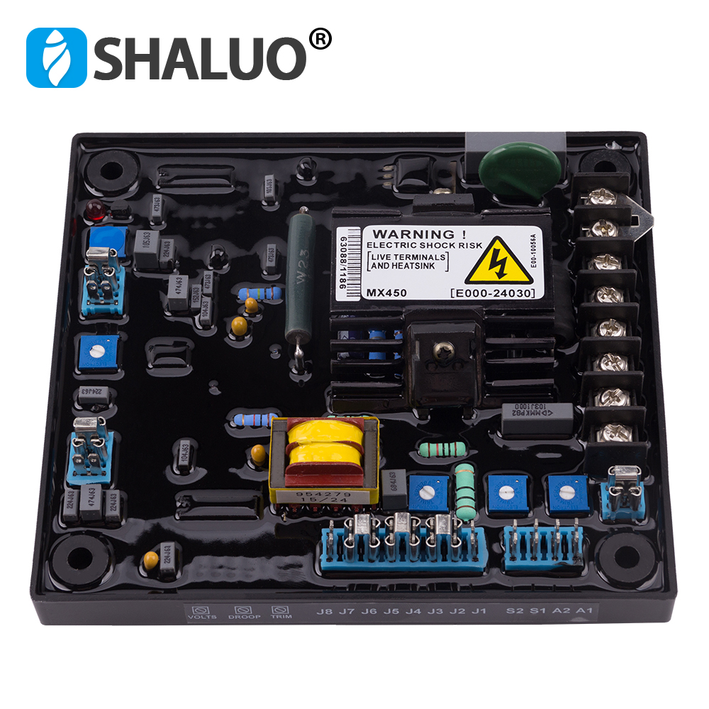 MX450 AC Motor Controller Generator Parts Accessories Automatic Voltage Regulator Generator Circuit AVR for Electric Alternator