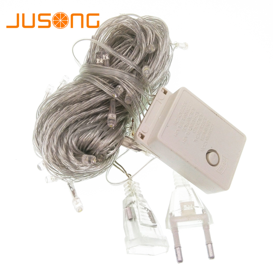 JUSONG 10M 100 Led String Garland Christmas Chain Outdoor Fairy Light Waterproof Home Garden Party Indoor Holiday DecorationJUSONG 10M 100 Led String Garland Christmas Chain Outdoor Fairy Light Waterproof Home Garden Party Indoor Holiday Decoration