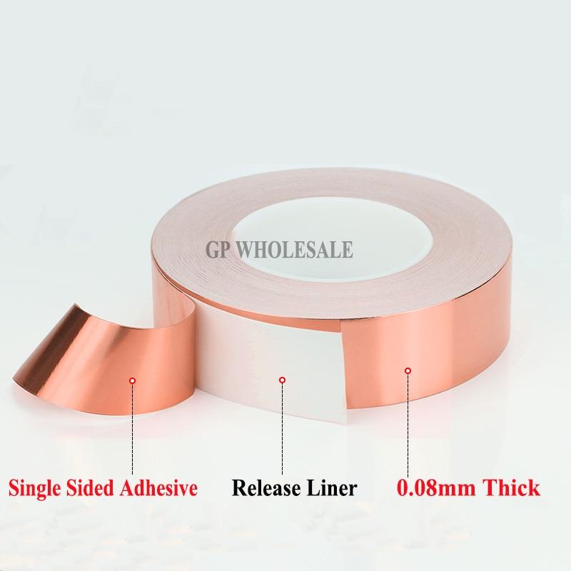 купить (0.08mm thick) 95mm*30M One Face Adhesive Conductive Copper Foil EMI Masking Tape fit for Laptop, PDP по цене 8967.51 рублей
