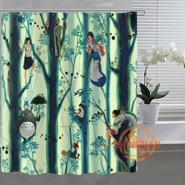 Studio Ghibli Totoro de cortina de ducha de baño de tela para cuarto ...