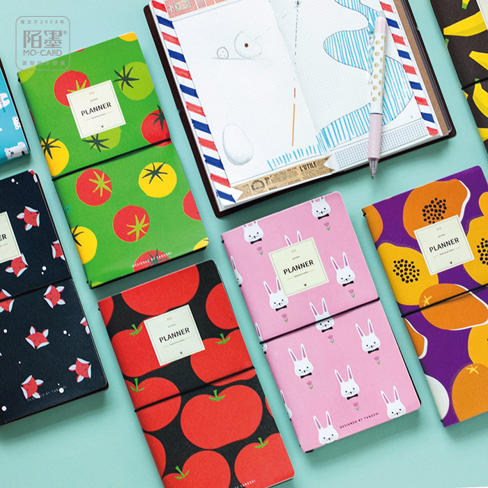 где купить  PU Leather Cover Planner Notebook  Fruit Animals Travel Journal Diary Book Exercise Composition Binding Note Notepad Gift 2017  по лучшей цене