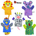 Sozzy 0+ Month Cute Infant Baby Hand Puppet Toy Animal Glove Lion Elephant Parrot Cows 30cm Soft Multicolor Baby Toys Puppet
