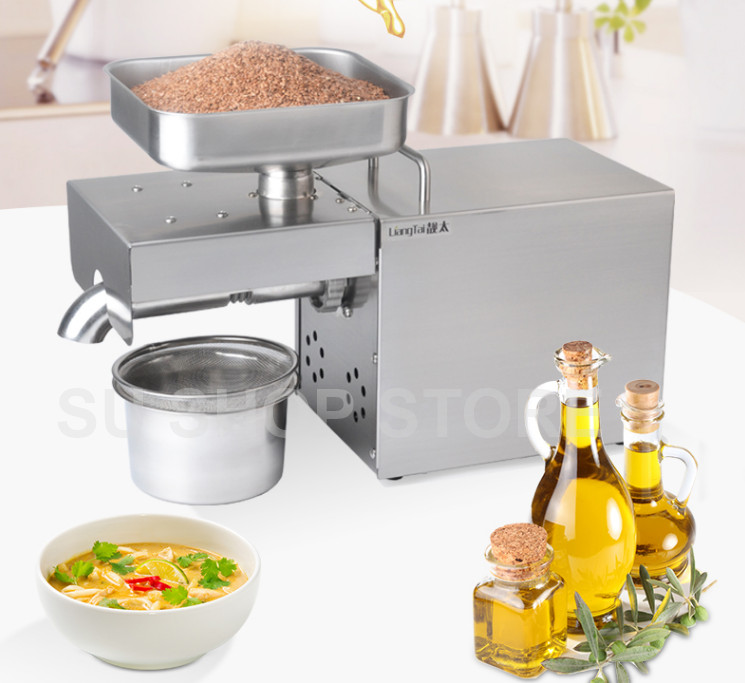 220v 110V automatic oil press machine oil presser Home stainless steel seed oil extractor Mini Cold