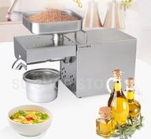 220 В/110 В автомат пресс нефти, пресс для отжима масла дома, нержавеющая сталь отделитель масла из семян, мини-холодная горячая масло пресс-машина