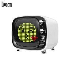 Divoom Tivoo Портативный беспроводной Bluetooth динамик пиксель искусство светодиодный часы Смарт-будильник с приложением доступно для IOS Android