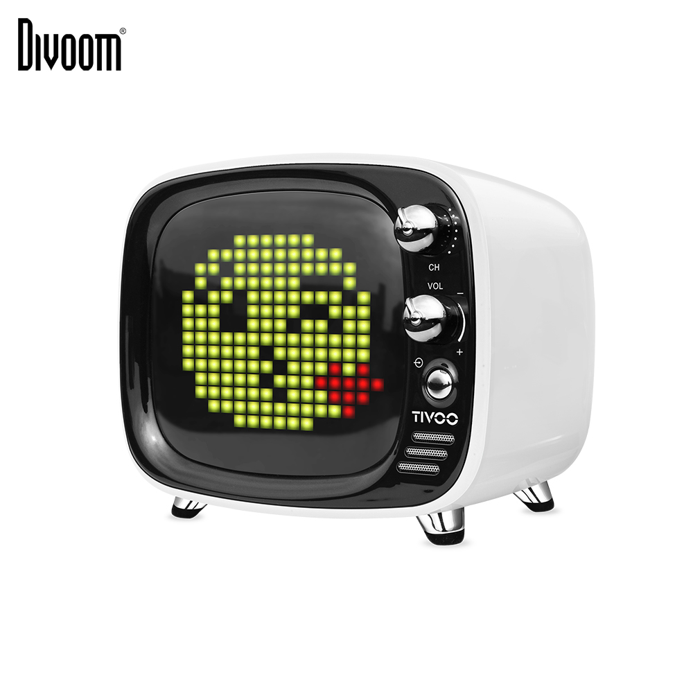 Divoom Tivoo Portable Wireless Bluetooth speaker Pixel Art LED Clock Smart Alarm Clock with App available for IOS Android image