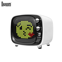 Divoom Tivoo Portable Wireless Bluetooth speaker Pixel Art LED Clock Smart Alarm Clock with App available for IOS Android