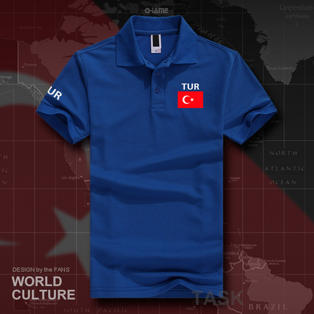 Turkey TUR   polo   shirts men short sleeve white brands printed for country 2017 cotton nation team flag new Turkish Turk country