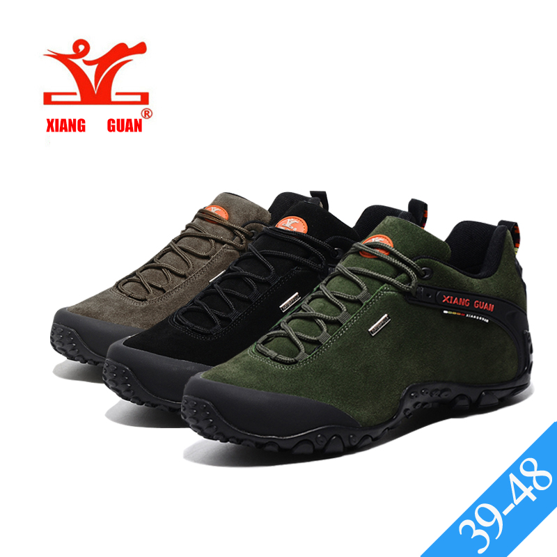 Xiang Guan Mens Lowtop Laceup Suede Waterproof Outdoor Footwear Sport Camping Hiking Trekking Walking Shoes  1XRDAYELF