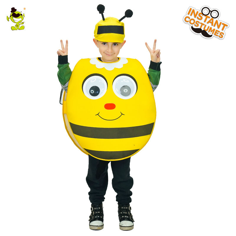 Unisex New Design Lovely Cute Bee Costume Beautiful Halloween Fancy Dress Cosplay Outfits Clothings For Purim Holiday Costumes