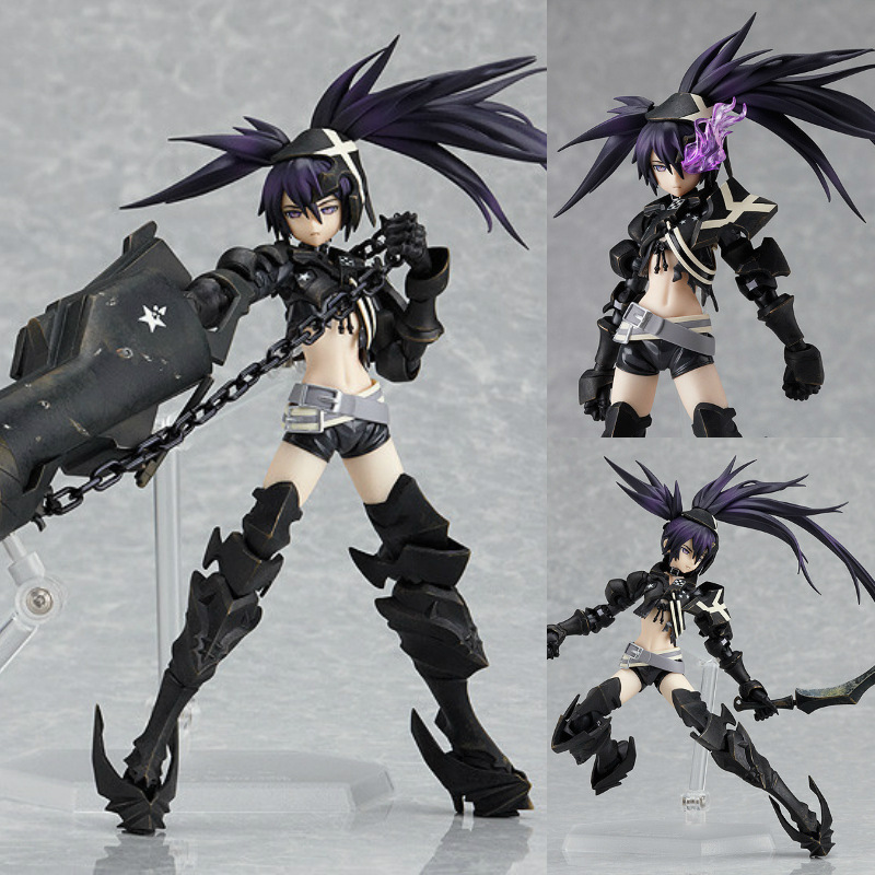 ФОТО Figma SP041 INSANE BLK 1pcs anime Black Rock Shooter figure toy tall 15cm in box hot sell.