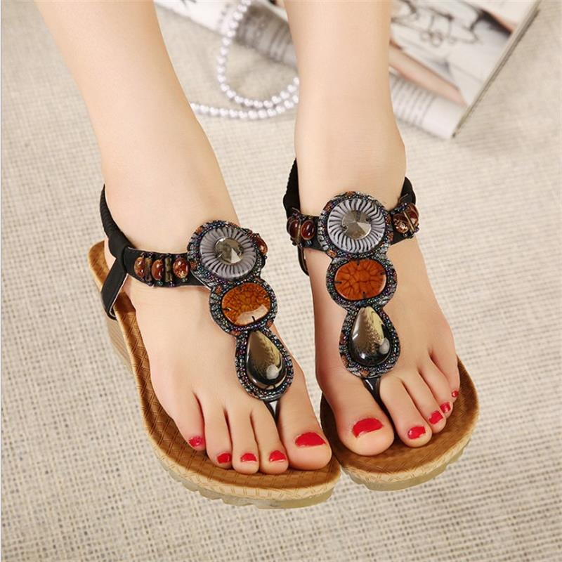 Women shoes 2017 summer new fashion Bohemian slope with female sandals footwear hand beaded Sandals Women Flip Flops BT531 free shipping summer shoes women sandals beaded bohemian flip flops sandals beach shoes for women