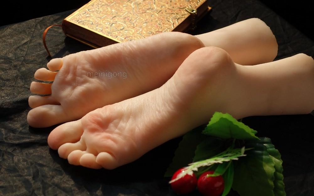 Réel peau poupée sexuelle pied japonais pleine masturbation silicone vie taille faux pieds modèle pied fétiche jouet sexy jouets poupée d'amour
