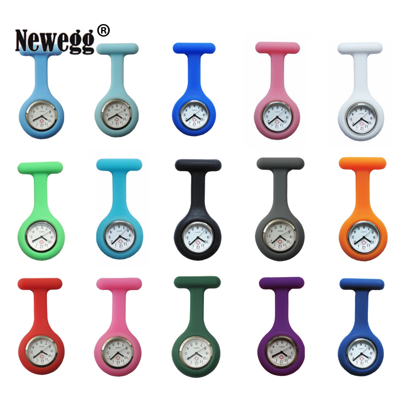 New Nurses Watches Doctor Portable Fob Watch Brooches Silicone Tunic Batteries Medical Nurse Watch Quartz With Clip