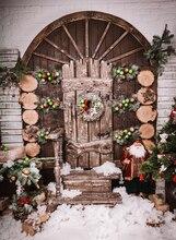 HUAYI fotografia backdrops pano de fundo de natal da foto do natal pano de fundo foto prop natal decoração XT-4978