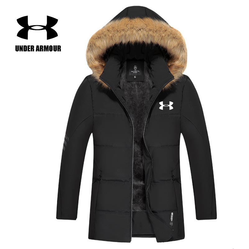 Under Armour Men Winter Jacket velvet warm hooded coat outdoor Windproof running Jackets Chaqueta Hombre invierno Asian size все цены