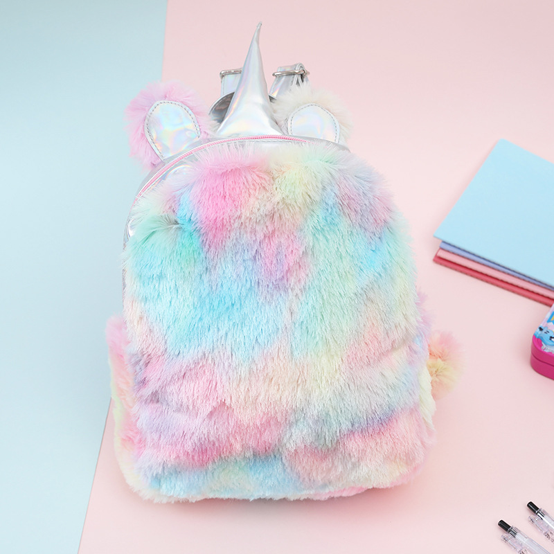 Fashion Cute Unicorn Women Backpacks Cartoon Kawaii Bagpacks Leather Hologram Women Girls School Bags Leather Backpack Mochila #4
