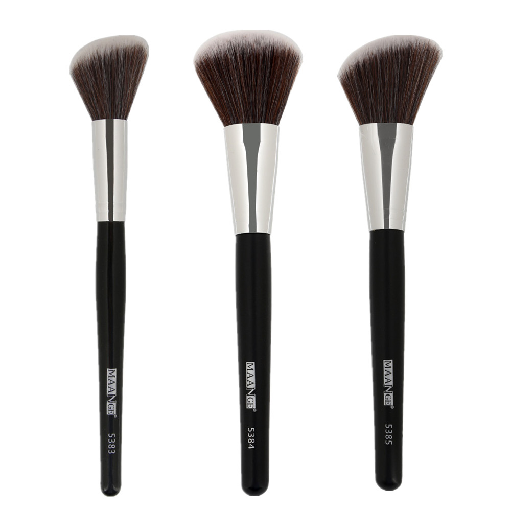 MAANGE 1Pc Angled Round Blush Makeup Brush Face Cheek Contour Blusher Nose Foundation Loose Power Cosmetic Make Up Brushes Tool-in Eye Shadow Applicator from Beauty & Health