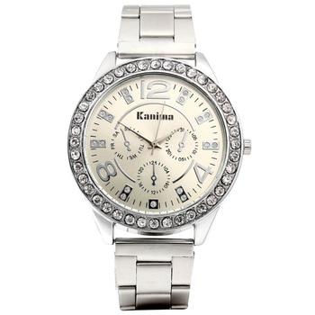 Relogio Feminino 2017 New Brand Kanima Crystal Casual Quartz Watch Women Simple Rhinestone Stainless Steel Dress Watches Hot дамски часовници розово злато