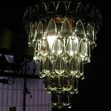 LED Современный Кристалл Подвесной Светильник Лампа с 4 Огней Дизайн Конуса, люстры е Pendentes, Lustre De Cristal Бесплатная Доставка
