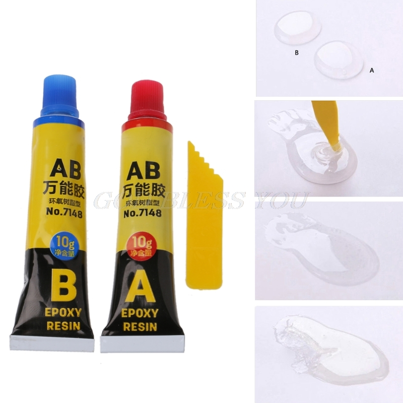 2PCS Epoxy Resin AB Glue All Purpose Adhesive Super Glue For Glass Metal Ceramic Solvents