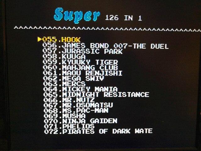 126 in 1 for Sega Megadrive Genesis 3