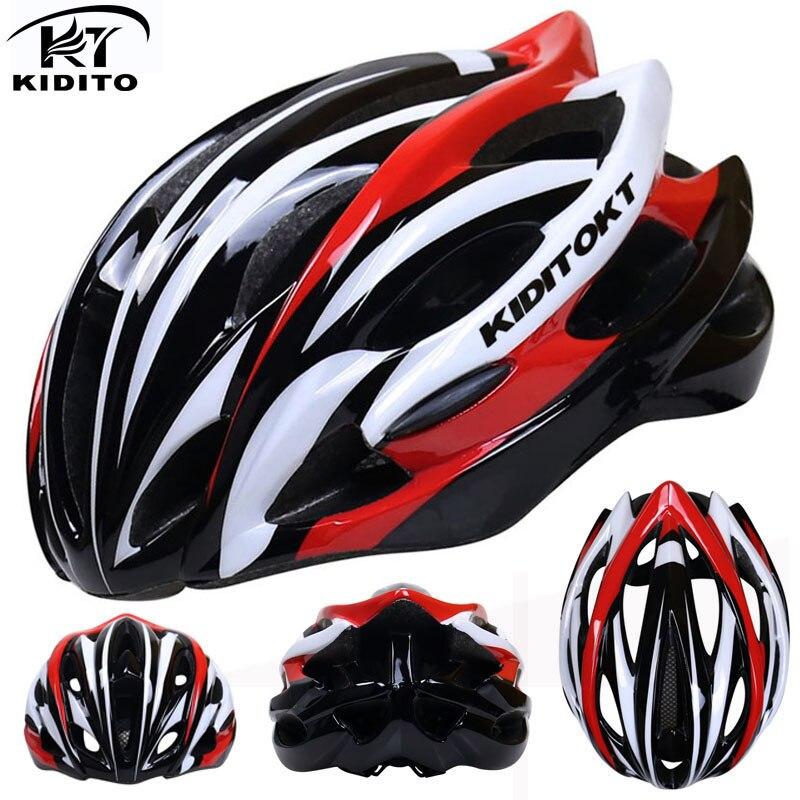 Цена за KIDITOKT Дорога Горный Велоспорт Шлем С Насекомых Net Велосипедный Шлем В пресс форме Велосипедный Шлем Сверхлегкий Велосипед Шлем Каско Ciclismo