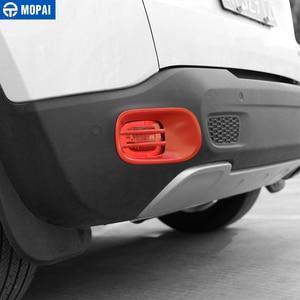 Image 5 - Mopai金属車のリアテールフォグライトランプカバー装飾jeep renegade 2015 アップ外装カーアクセサリーカースタイリング