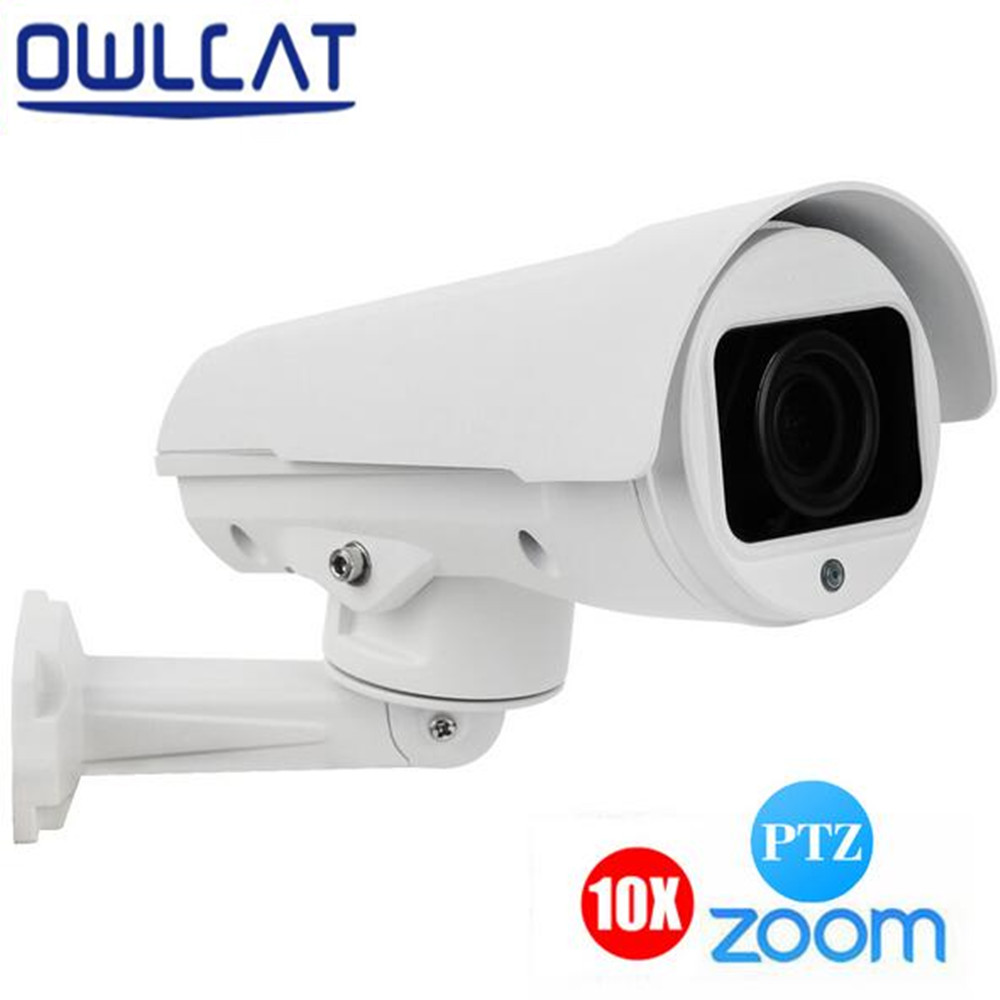OwlCat 2.0MP 4MP IP Camera 1080P PTZ 4XZOOM Vari focal lens 2.8 12MM/10XZoom 5 50mm P2P Bullet Outdoor CCTV Security Cam IR 50m