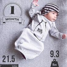Newborn Baby Boy Girls Long Sleeve Romper