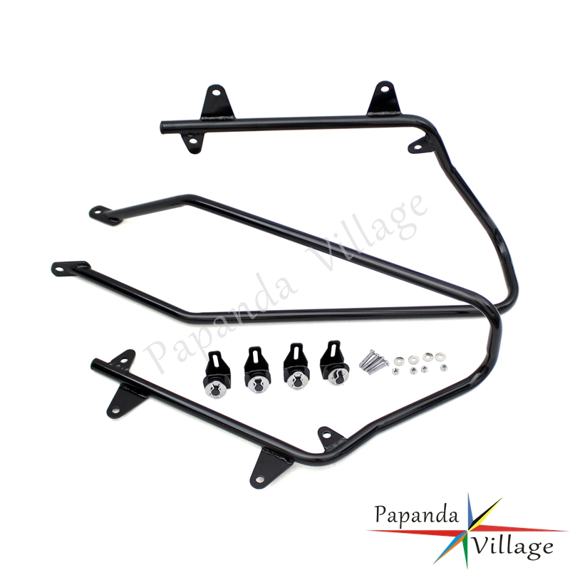 Papanda Motorbike Black Hard Saddlebag Saddle Bag Support Conversion Brackets Mounts for Harley Touring Softail 1986 2013 in Covers Ornamental Mouldings from Automobiles Motorcycles