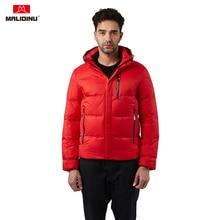 MALIDINU 2019 Duck Down Jacket Men Winter Down Coat Hooded Parka Feather Jacket Thick Warm Winter Jacket European Size -30C