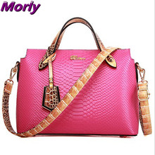 New women Embossing Crocodile leather handbag crossbody bag fashion women messenger bags tote clutch shoulder bag