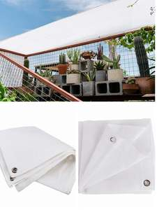 Canopy Protection-Covers Sail SUN-SHELTER Glass House Patio Garden White Outdoor Awnings